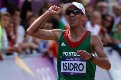 "Pedro Isidro - campeão do mundo dos 5 kms marcha nos ""INAS Global Games"""